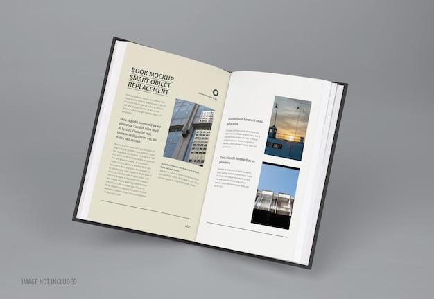 Mockup-ontwerp in een tijdschrift