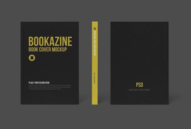 Mockup-ontwerp met harde boekomslag