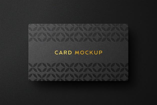 Mockup-ontwerp met luxe kaartlogo