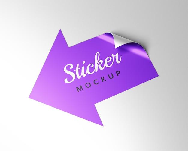 Mockup-ontwerp met pijlsticker