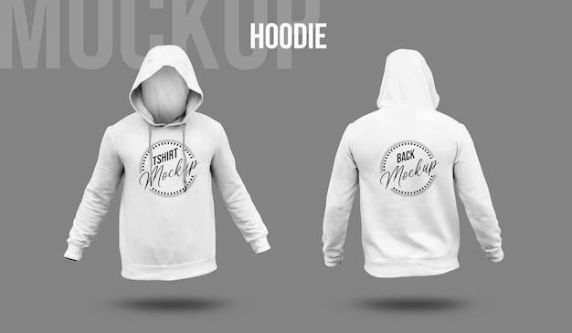 Mockup-ontwerp met witte hoodie