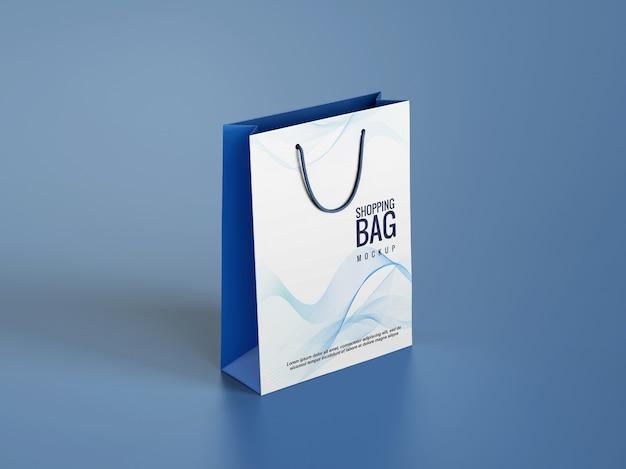 Mockup ontwerp van boodschappentassen