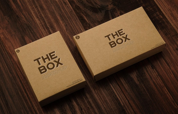 Mockup-ontwerp van papieren kartonnen doos