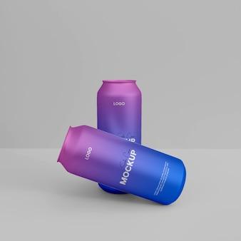 Mockup-ontwerp voor 3d-frisdrankblik