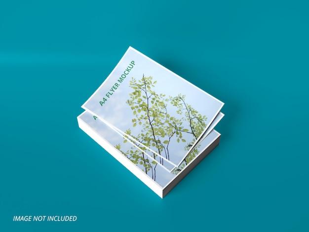 Mockup-ontwerp voor a4-papier