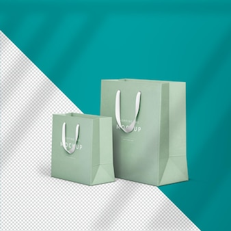 Mockup-ontwerp voor boodschappentassen