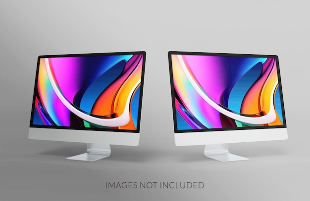 Mockup-ontwerp voor desktopscherm