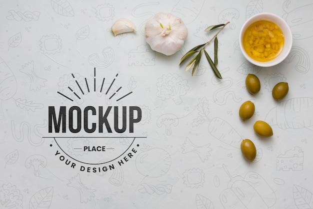 Mockup-ontwerp voor italiaans eten