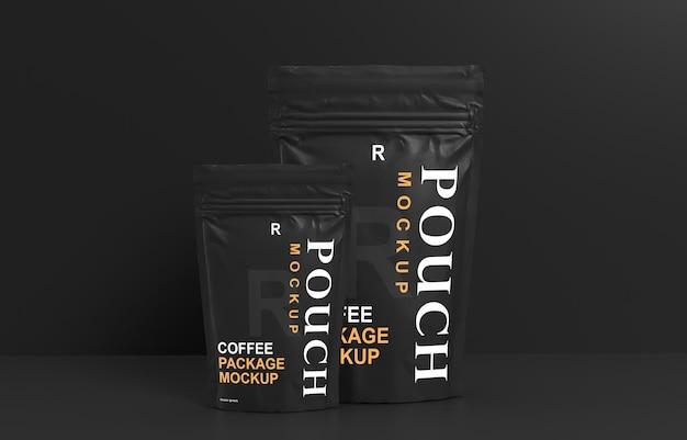 Mockup-ontwerp voor koffieverpakkingen