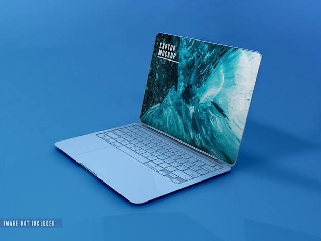 Mockup-ontwerp voor laptop op volledig scherm