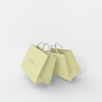 Mockup-ontwerp voor papieren boodschappentas