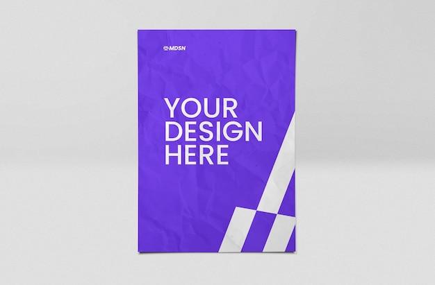 Mockup-ontwerp voor papieren vellen