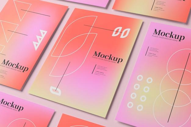 Mockup-ontwerp voor posters en flyers