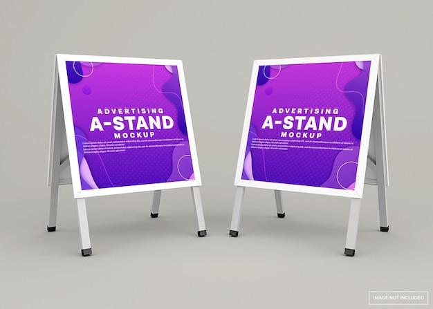 Mockup-ontwerp voor reclamestandaard