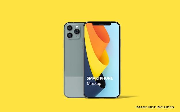 Mockup-ontwerp voor smartphone op volledig scherm