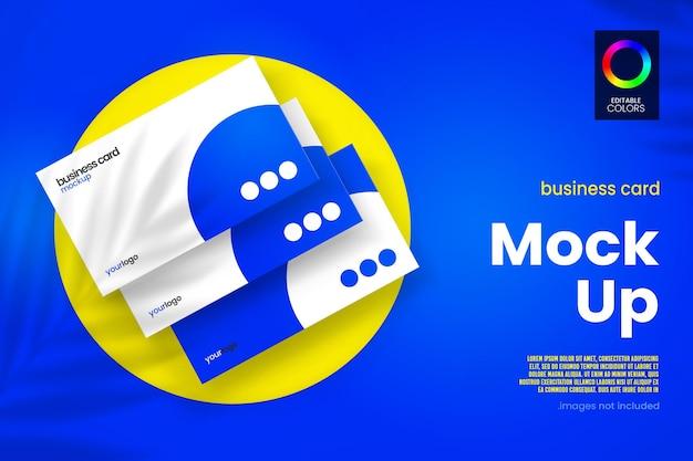Mockup-ontwerp voor visitekaartjes in 3d-rendering