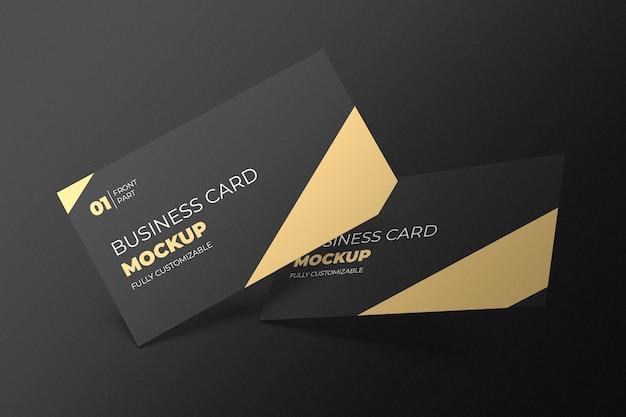 Mockup-ontwerp voor visitekaartjes