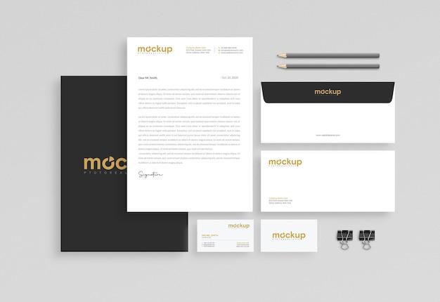 Mockup ontwerp voor zakelijke briefpapier