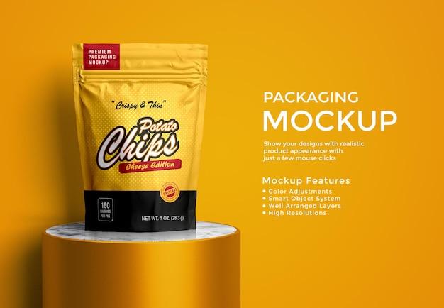 Mockup-ontwerp voor zakverpakking