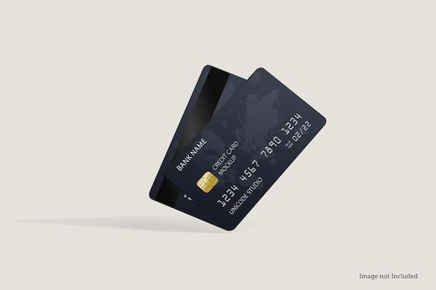 Mockup-ontwerpen voor creditcards in 3d rendeirngs in 3d rendeirng