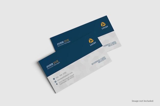 Mockup-ontwerpen voor visitekaartjes in 3d rendeirngs in 3d rendeirng