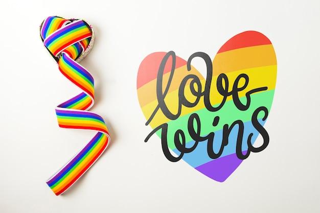 Mockup orgullo gay muro