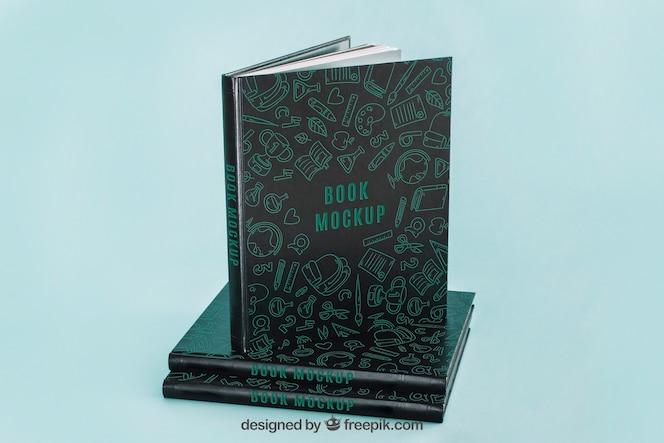 Mockup oscuro de cover de libro
