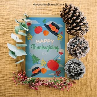Mockup de otoño y thanksgiving