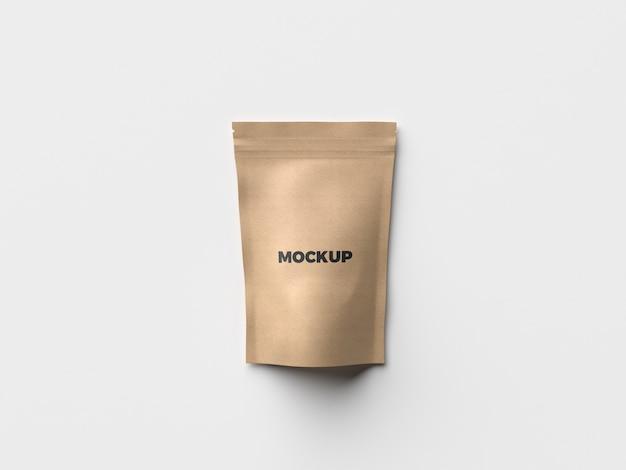 Mockup de packaging de bolsa de papel