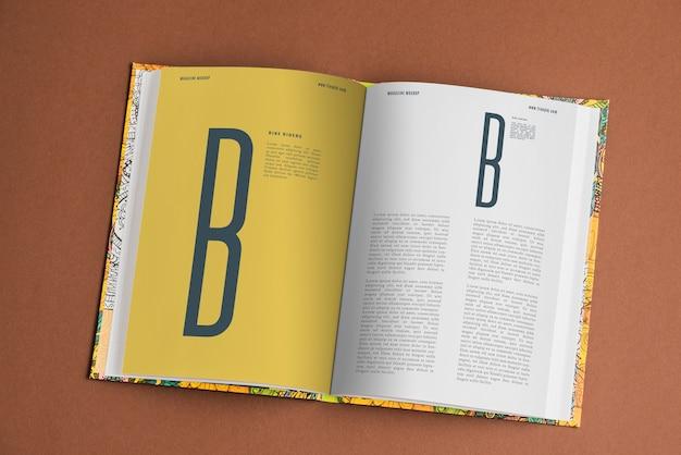 Mockup de página de libro