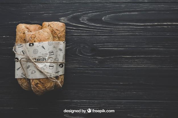 Mockup de pan con copyspace