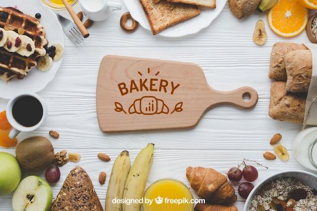 Mockup de panadería