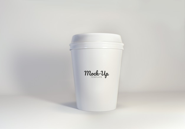 Mockup papieren koffiekopje sjabloon