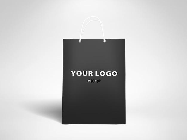 Mockup papieren zak logo ontwerp