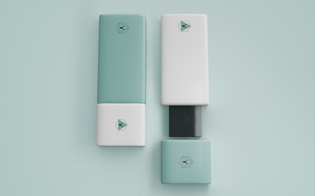 Mockup de pen drive para merchandising