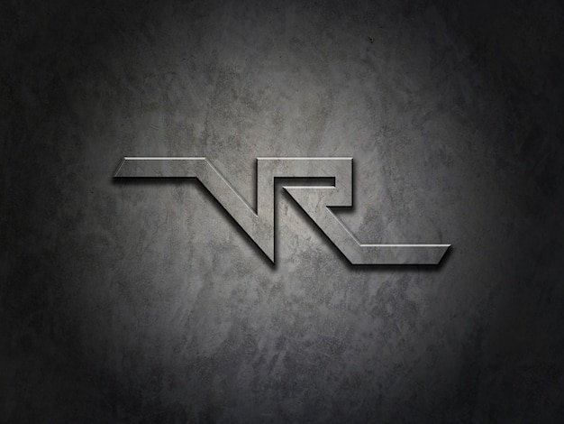 Mockup per logo su struttura metallica