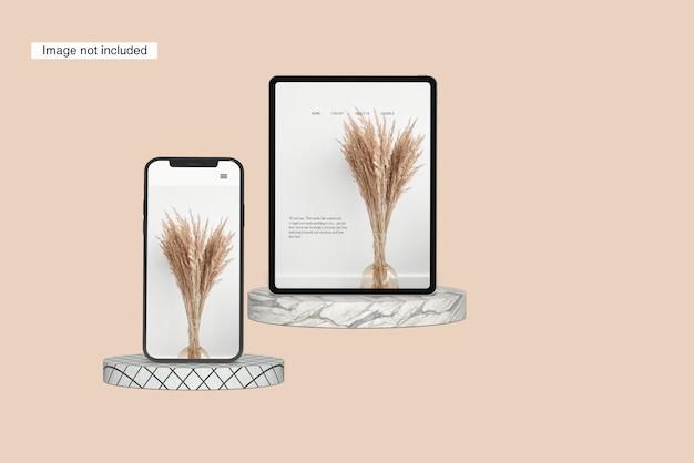 Mockup per tablet orizzontale angolo anteriore