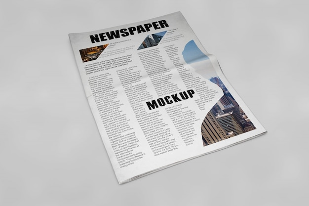 Mockup de periódico