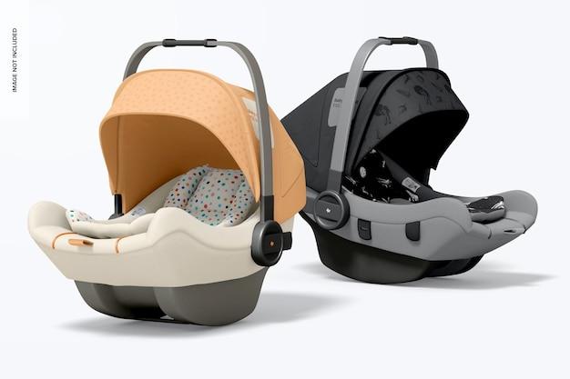 Mockup perspectief voor baby-autostoelen
