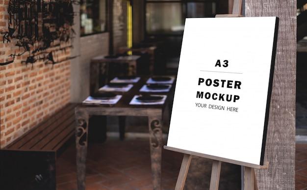 Mockup-poster met speciale promotie voor het restaurant