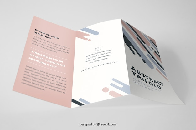 Mockup profesional de folleto tríptico