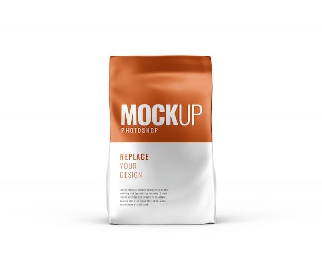 Mockup pubblicitario del sacchetto realistico