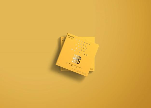 Mockup quadrato con copertina rigida