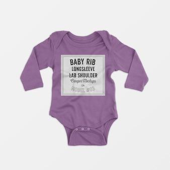Mockup rampicante a spalla a maniche lunghe a coste baby