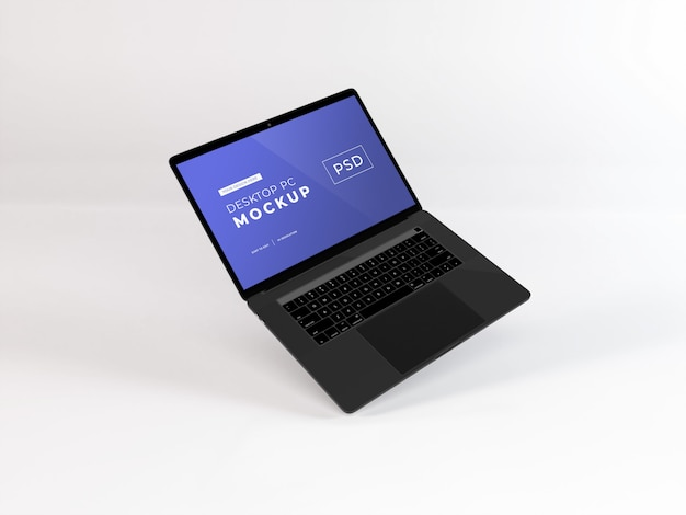 Mockup realistico per laptop