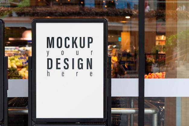 Mockup reclamebord voor supermarkt