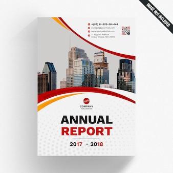 Mockup de reporte anual abstracto