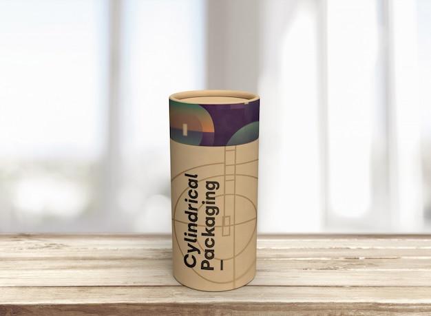 Mockup scatola cilindri