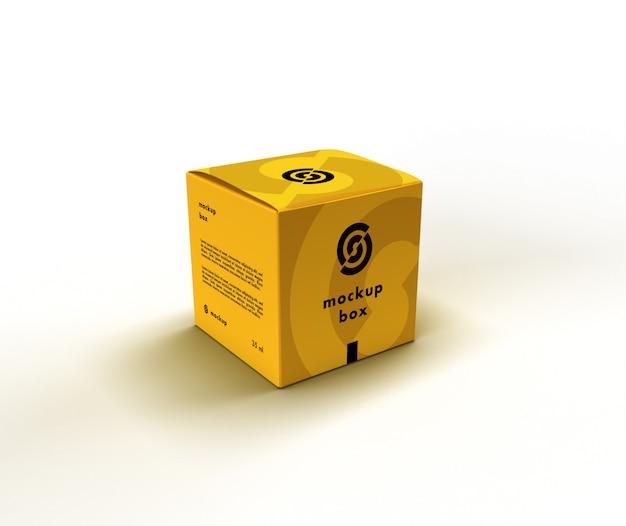Mockup scatola cubo