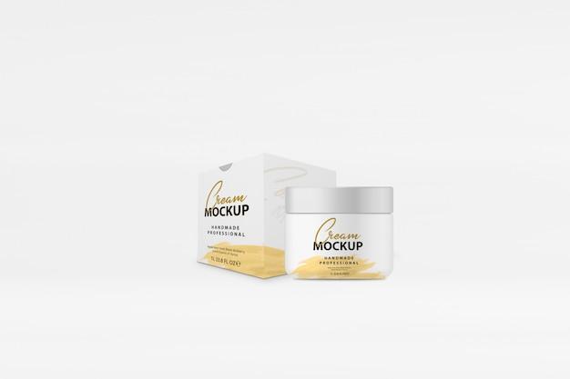 Mockup scatola di crema